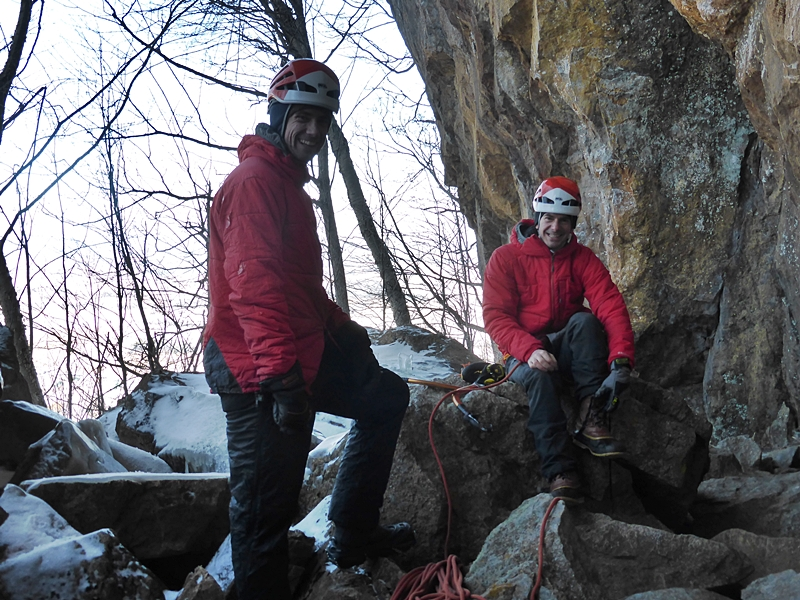 another day and another great Vermont crag. Snake Mountain. Matt and Michael do partner look!