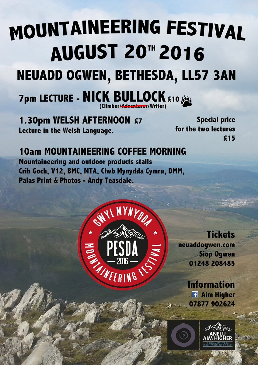 The PESDA poster with everything you need to know if you want to come along and a slight alteration as I don't see myself and certainly would not describe myself as an adventurer. Being described as an adventurer nowadays to me makes me think of people like Bear Grylls and the like, people who want to do the promotional lecture circuit and make a load of cash and 'inspire others to live the dream' and other over worked clichés that usually abound that generally include the words, empower, extraordinary, amazing, conquer, :-)