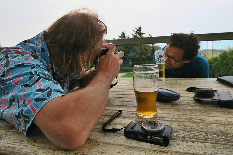 The Hippy takes a picture of beery times in The White Eagle. Post Gimble success celebration. Pic Credit, Nikki Clayton.