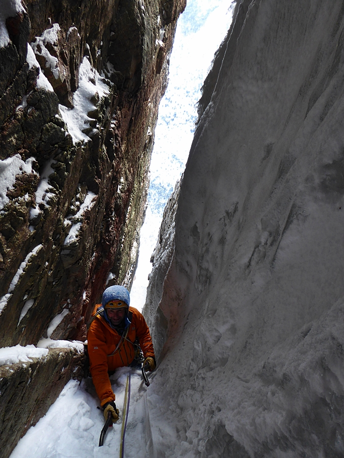 Myself seconding the fifth pitch. Credit, Guy Robertson.