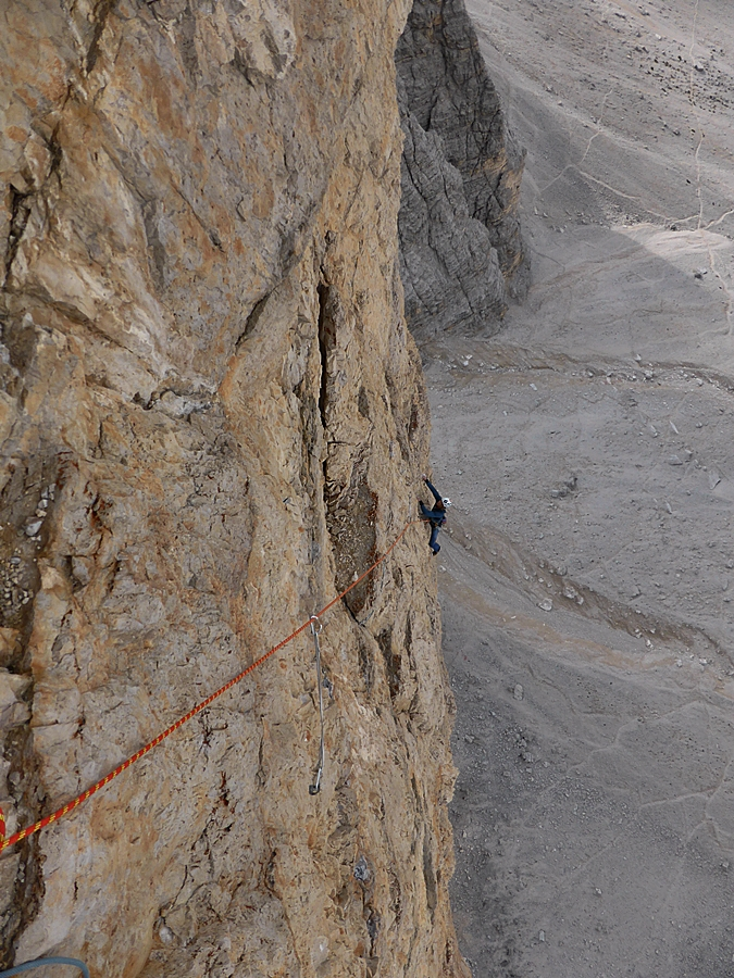 Matt seconding the seventh, 6c pitch.