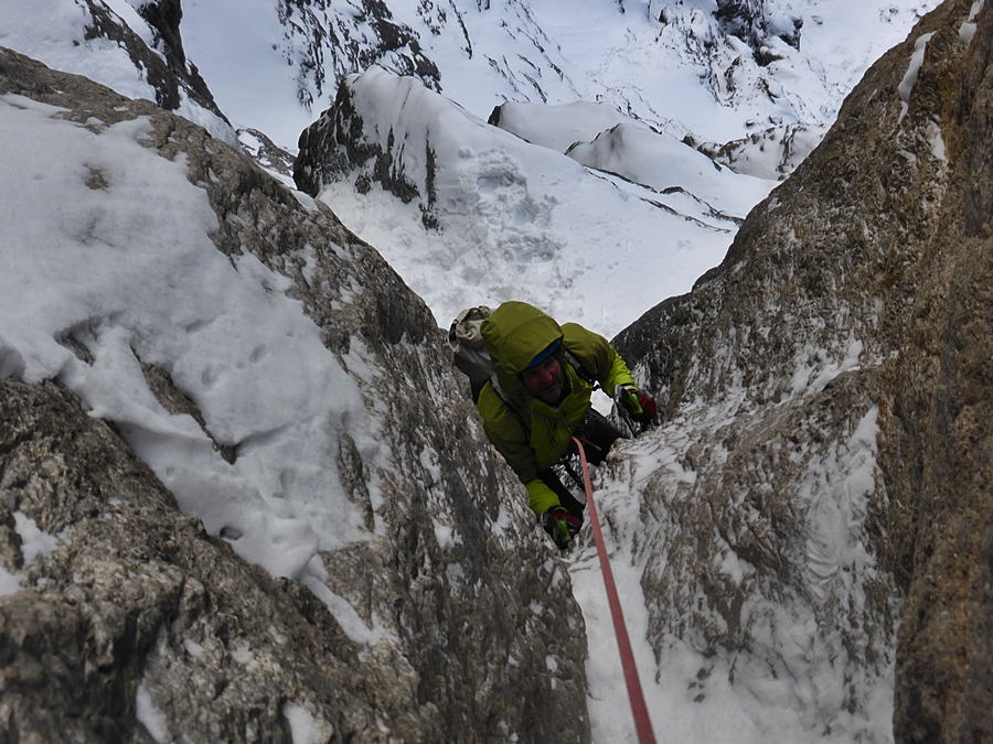 Bayard gets to grips with a typical Rocky Mountain slippery groove.