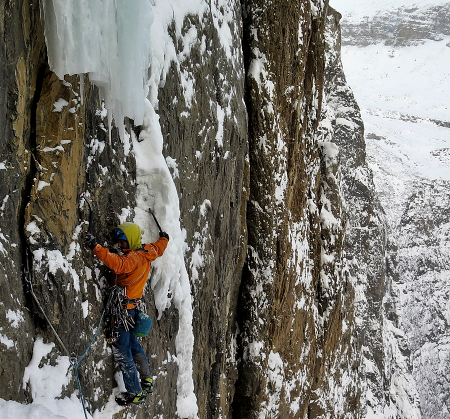 The wrong way to start the fourth pitch. Pic credit, Raphael Slawinski.