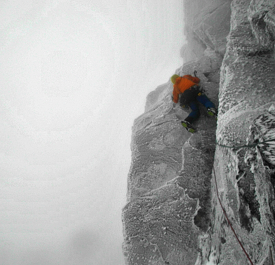 Myself on the second pitch of Arthur. Pic credit, Matt Helliker.