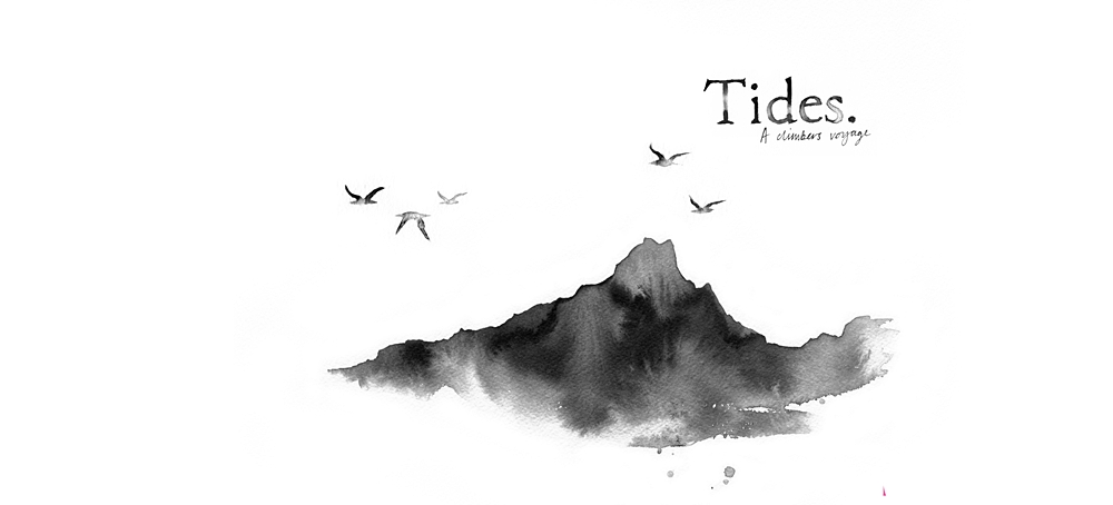 Tides cover, an ink from Tessa Lyons.