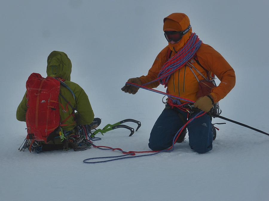 No worries getting off the top when alongside two mountain guides :-)
